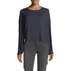 NWT Frame Cinched Swing Top in Navy